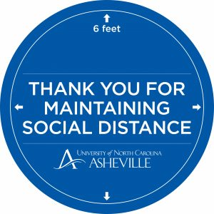 Thank you for maintaining social distance sign