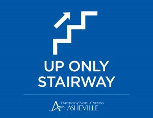 Up Only Stairway sign