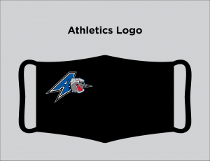 Face mask with Bulldogs Athletics logo
