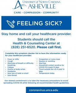 Contact Health & Counseling sign
