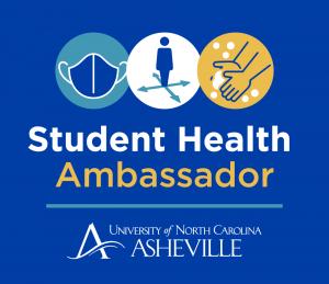 Student Health Ambassador logo with wash, wear, wait graphics