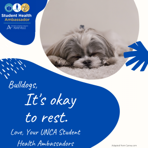 It's okay to rest flyer